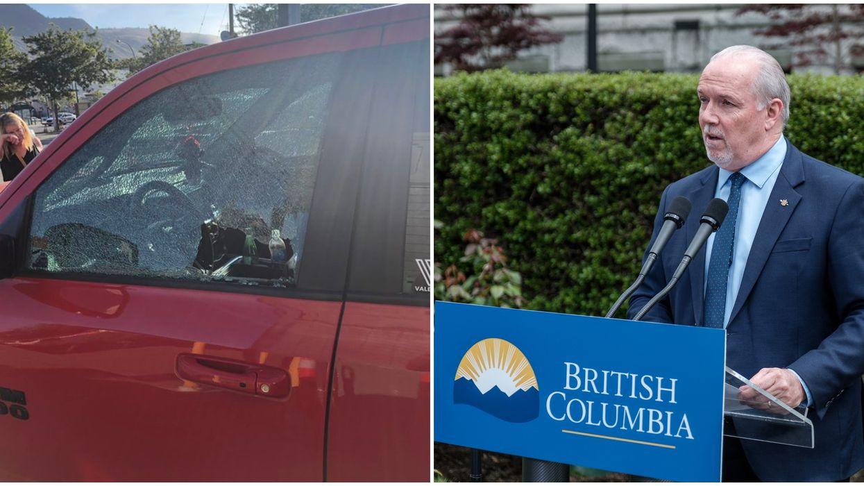 Alberta Man Calls John Horgan An 'Idiot' After His Car Gets Vandalized In BC