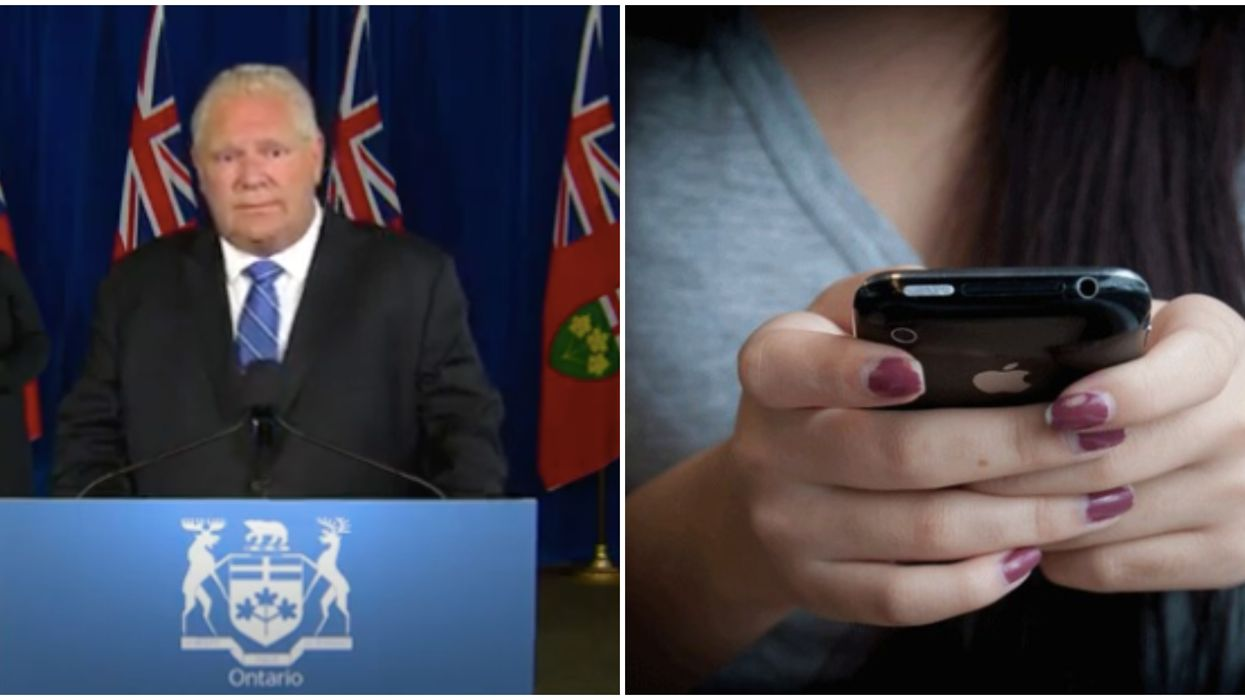 Ontario Cellphone Ban May Be Lifted So Students Can Use COVID-19 App, Hints Ford
