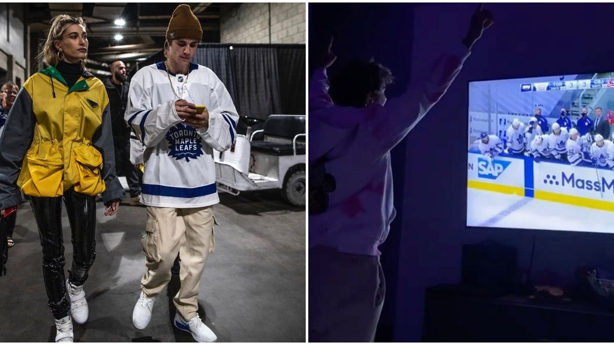 Justin Bieber's Reaction To The Leafs Game Was Every Toronto Fan (VIDEO)