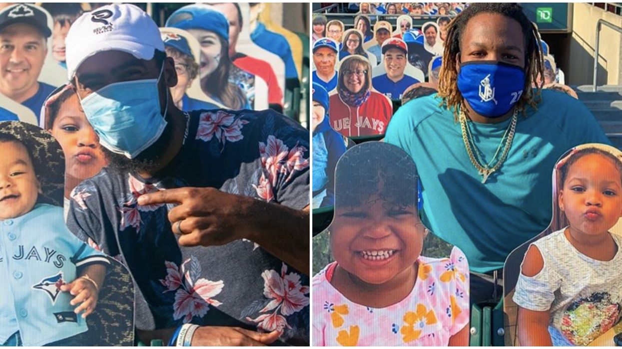 Toronto Blue Jays In Buffalo Are Sharing Photos Of Their Adorable Family Cutouts