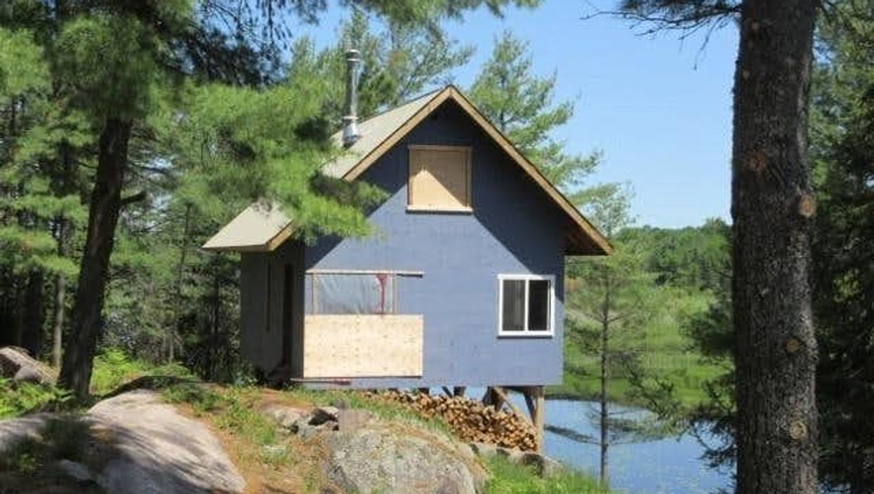 Ontario Cabin For Sale Hangs Over The Water & Is A Private Slice Of Paradise