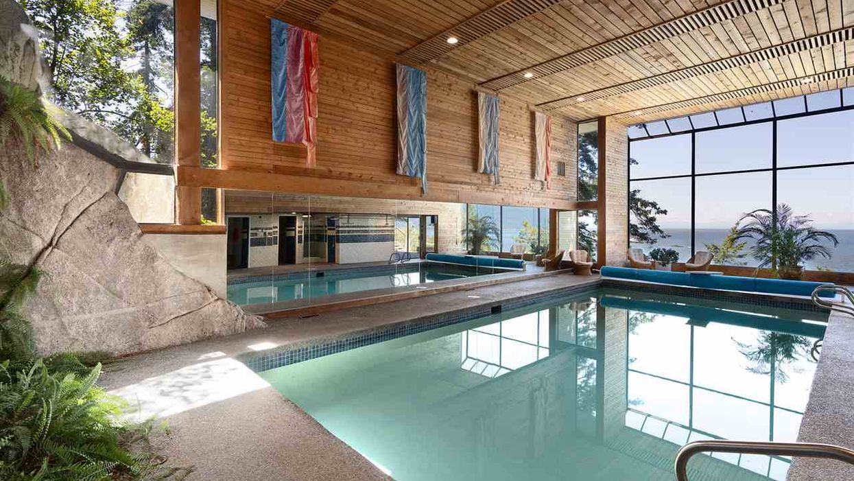 BC Beach Mansion Has An Indoor Pool So Big They Could Use It For The Olympics