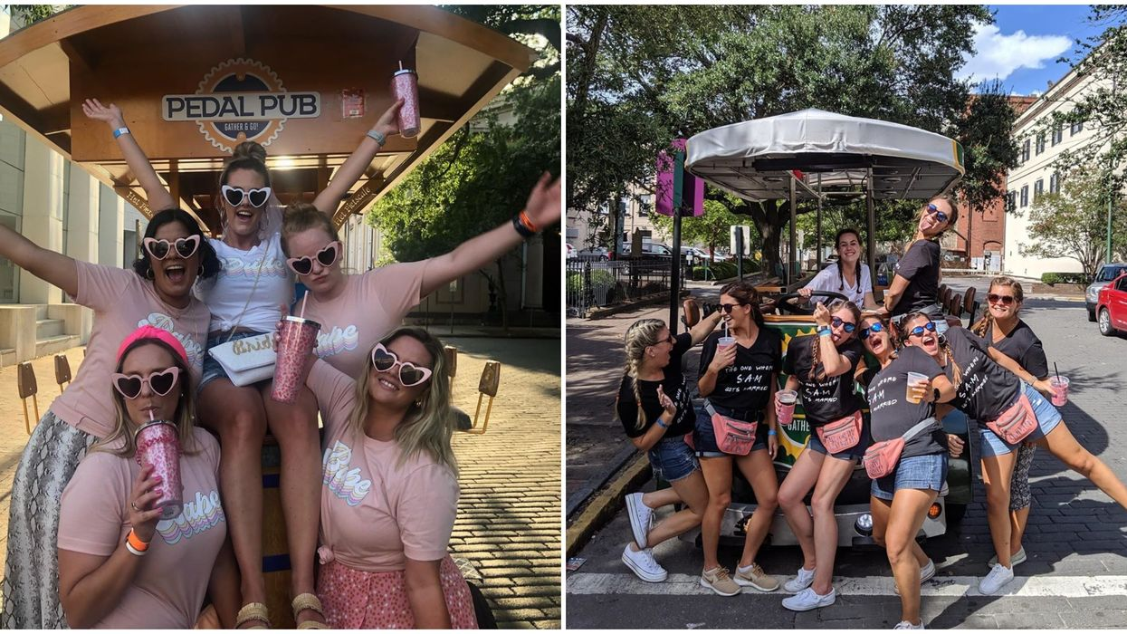 Savannah Petal Pub Party Bike Will Take You To Some Of The Best Bars In The City
