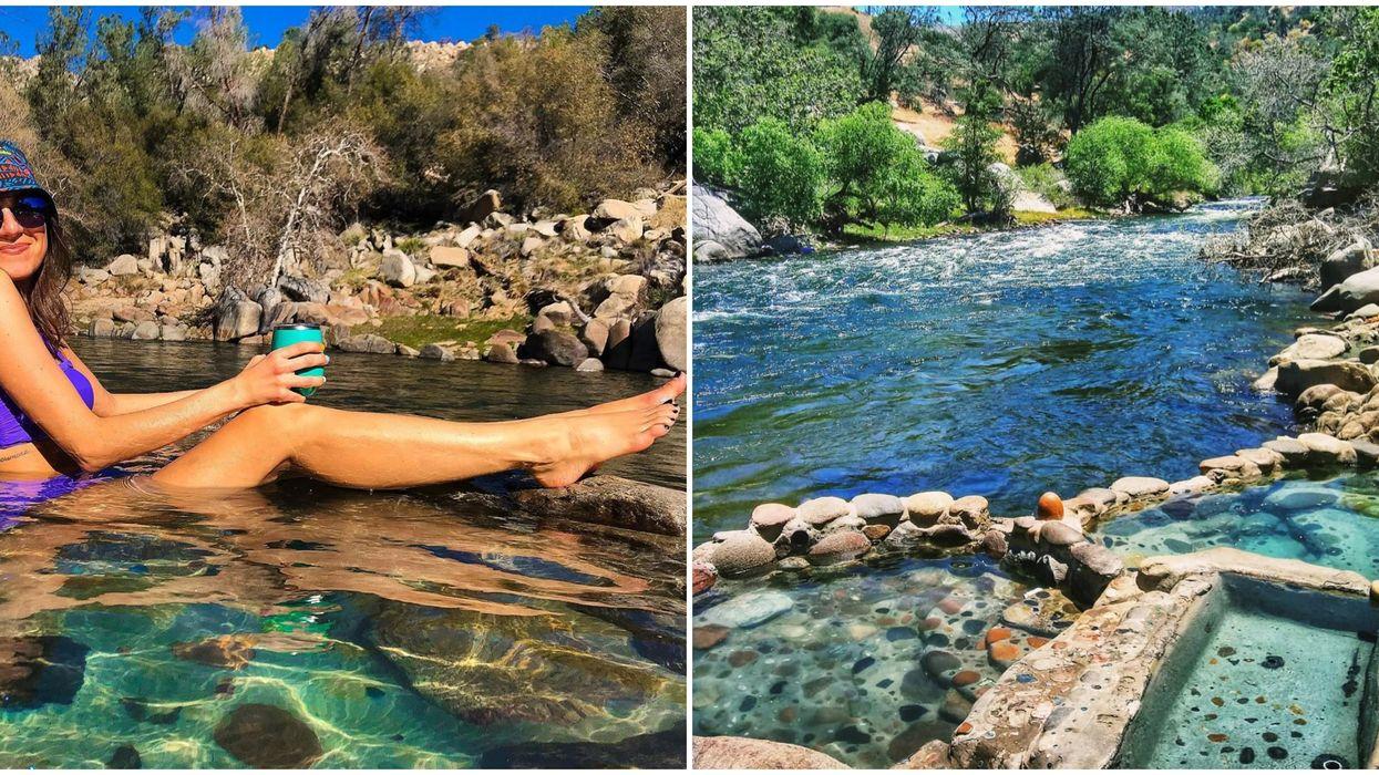 Remington Hot Springs In California Are Hidden Along The Banks Of A River