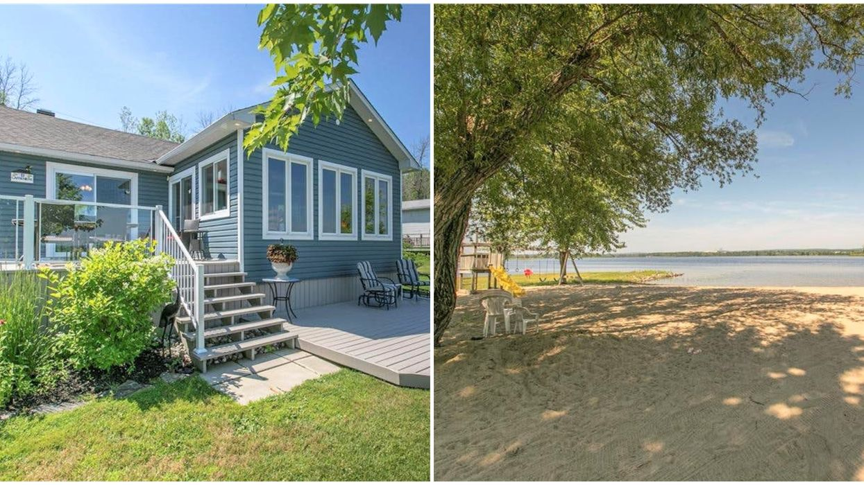 An Affordable Cottage For Sale Near Ottawa Has Its Own Glorious Pool & Cabana