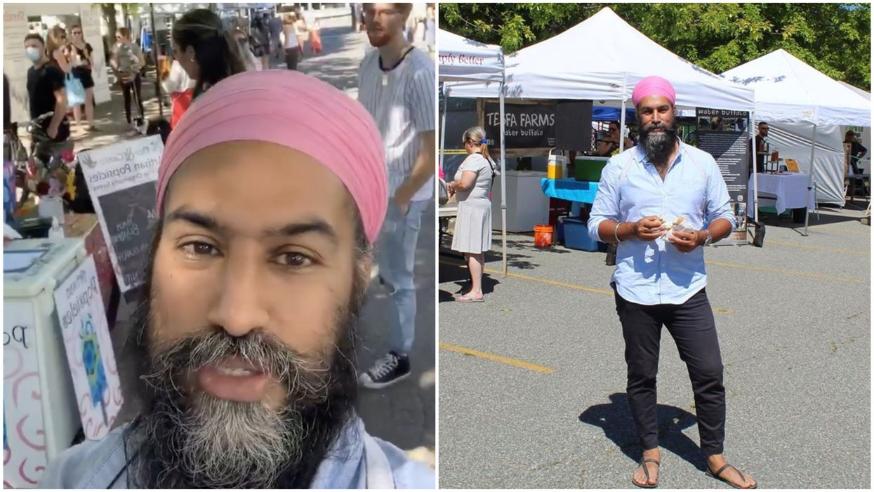 Jagmeet Singh Was In BC & Is Obsessed With The Farmers Markets