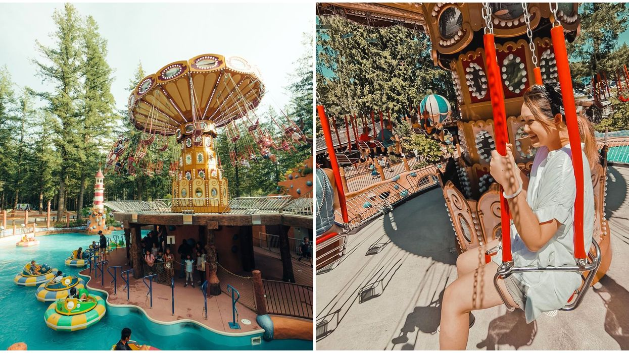 Cultus Lake Amusement Park Takes You Soaring Over A Turquoise Lazy River