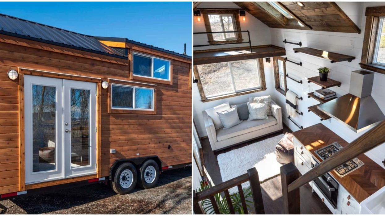 An Adorable 'Rustic Chic' Tiny Home Is For Sale In BC & You Can Take It Wherever You Want