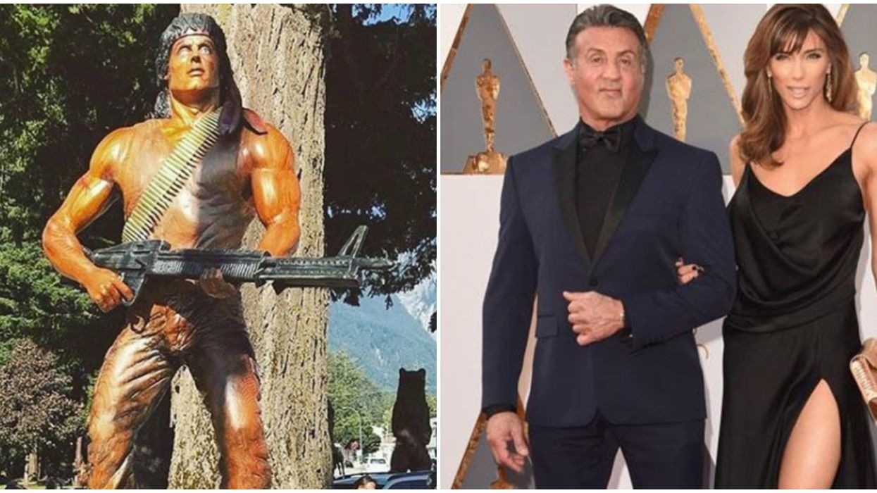 Sylvester Stallone Just Got a Life-Sized Rambo Statue In BC & He's 'Very Proud' (PHOTOS)