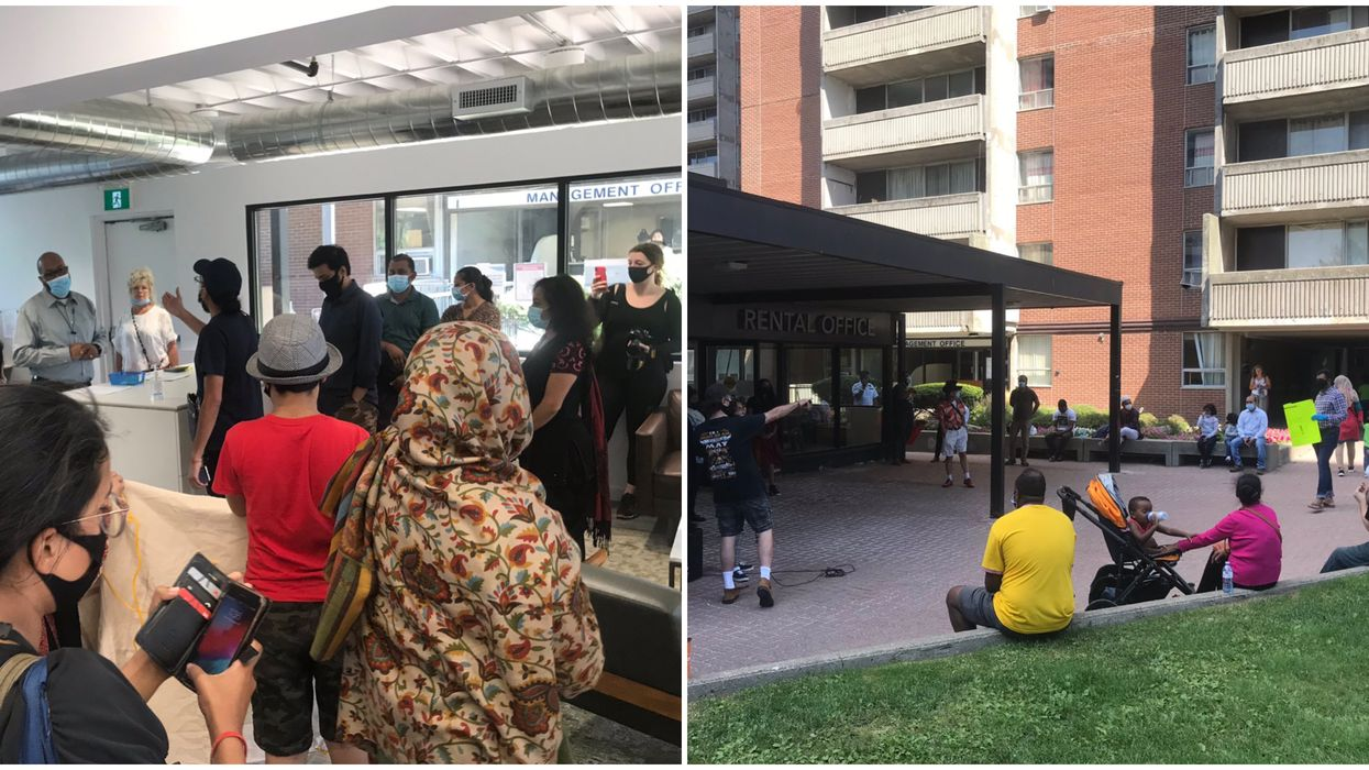 Toronto COVID-19 Evictions Pushed Tenants To Occupy Landlords' Offices On Thursday