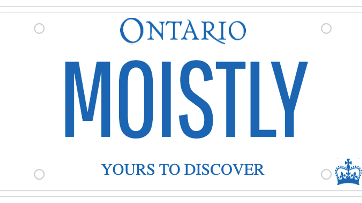 Ontario's New List Of Rejected License Plates Includes 'Moistly' And 'Nyeah.eh'