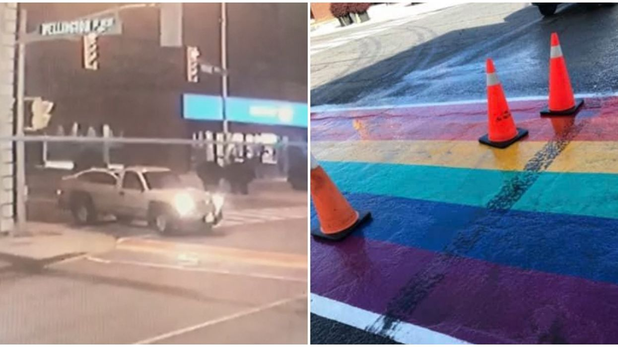 Someone Left Skid Marks On A New Rainbow Crosswalk & GTA Police Suspect It's A Hate Crime