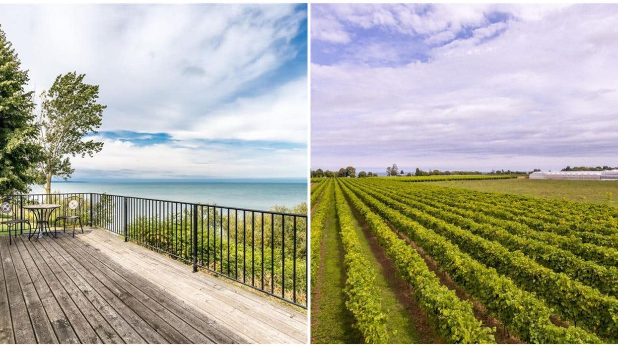 Ontario Lakefront Home For Sale Is Full Of Vineyards & Gorgeous Waterfront Views