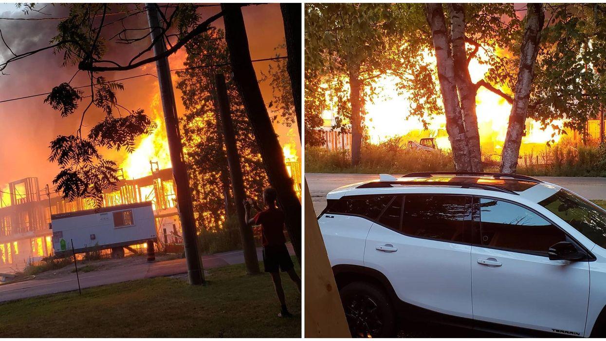 Kitchener Complex Fire Completely Burns Down The Neighbourhood (VIDEOS)