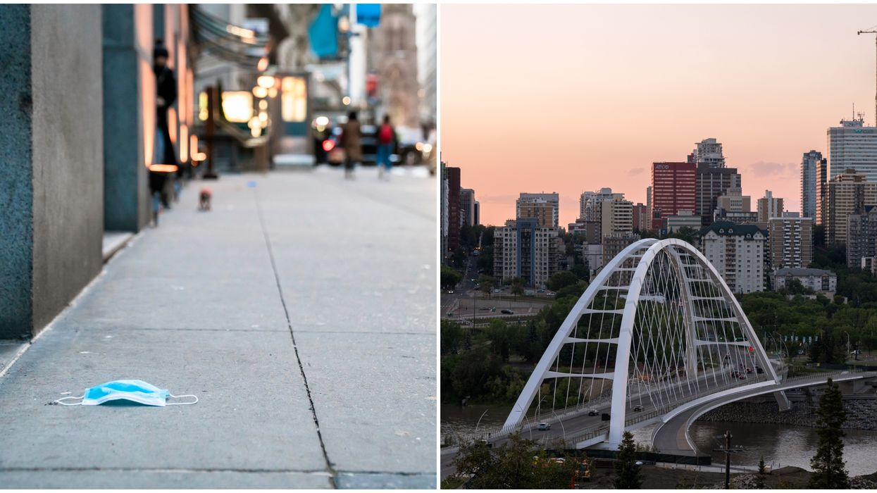 Edmonton's Mask Bylaw Has Caused Littering & Someone Wants To Sue For $565 Million