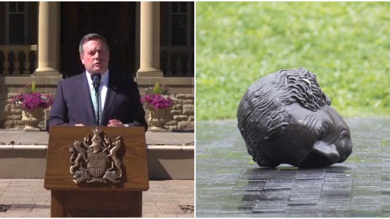 Jason Kenney Asked Montreal To Give Alberta Their Defaced Sir John A. Macdonald Statue