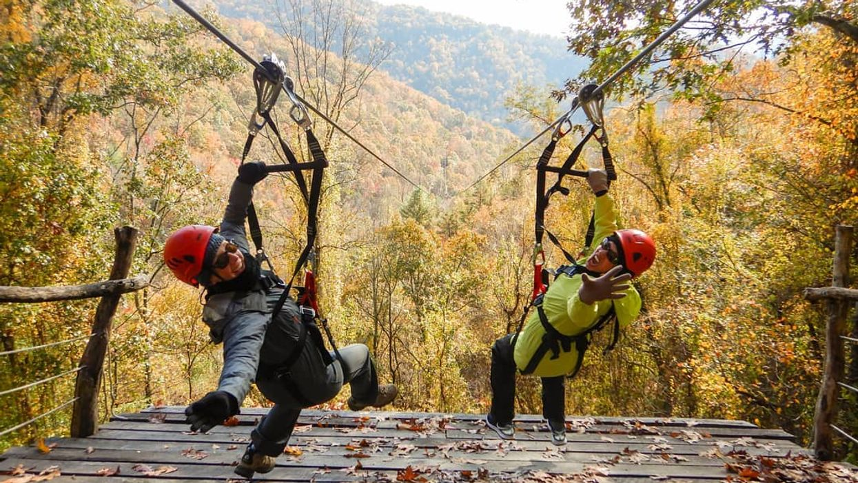 You Can Ride This North Carolina Mountain Zip Line For Hours & Get All The Autumn Views