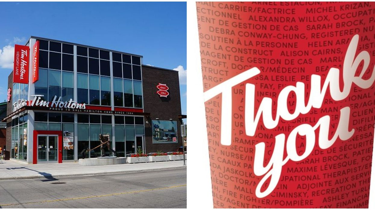 Tim Hortons Has A New Limited Edition Cup Look & It's A Huge Shoutout To Pandemic Workers