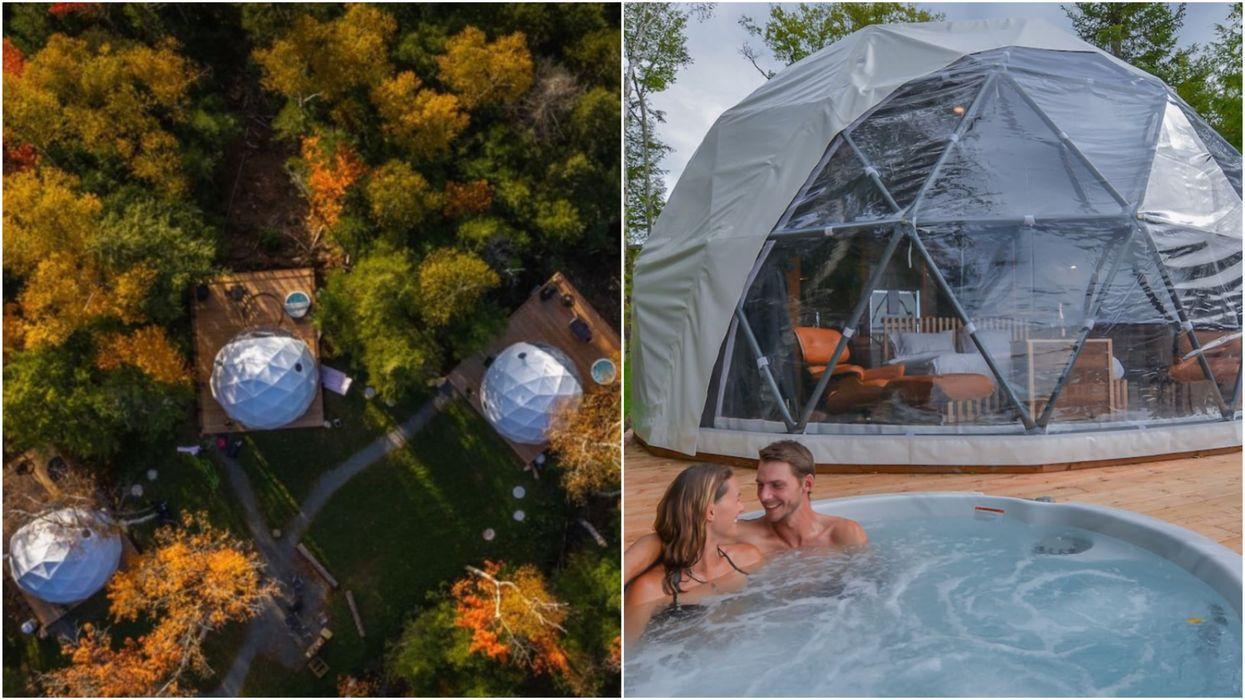 This Unique 'Love Nest' Airbnb Near Ottawa Comes With A Private Hot Tub In The Forest
