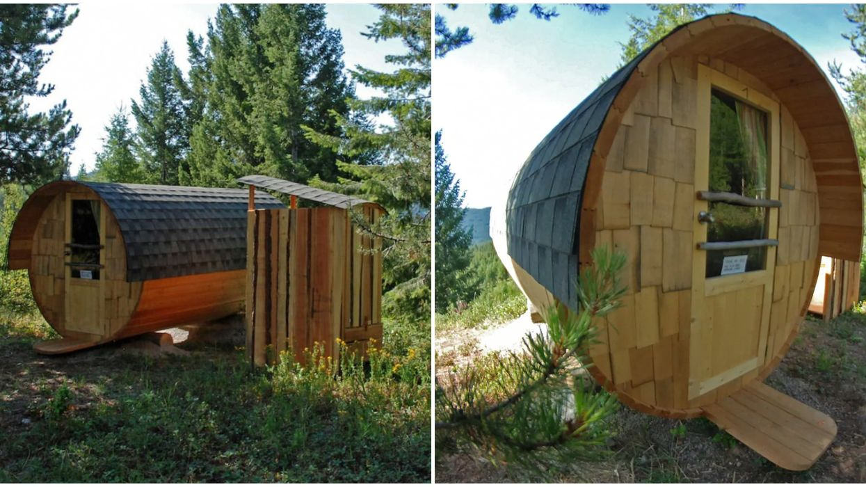 Airbnb In BC: This Cozy 'Wine Barrel' Cabin Is Less Than $100 A Night