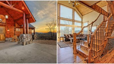 Cabin Rental In North Georgia Mountains Has Sweeping Views And Sleeps 14