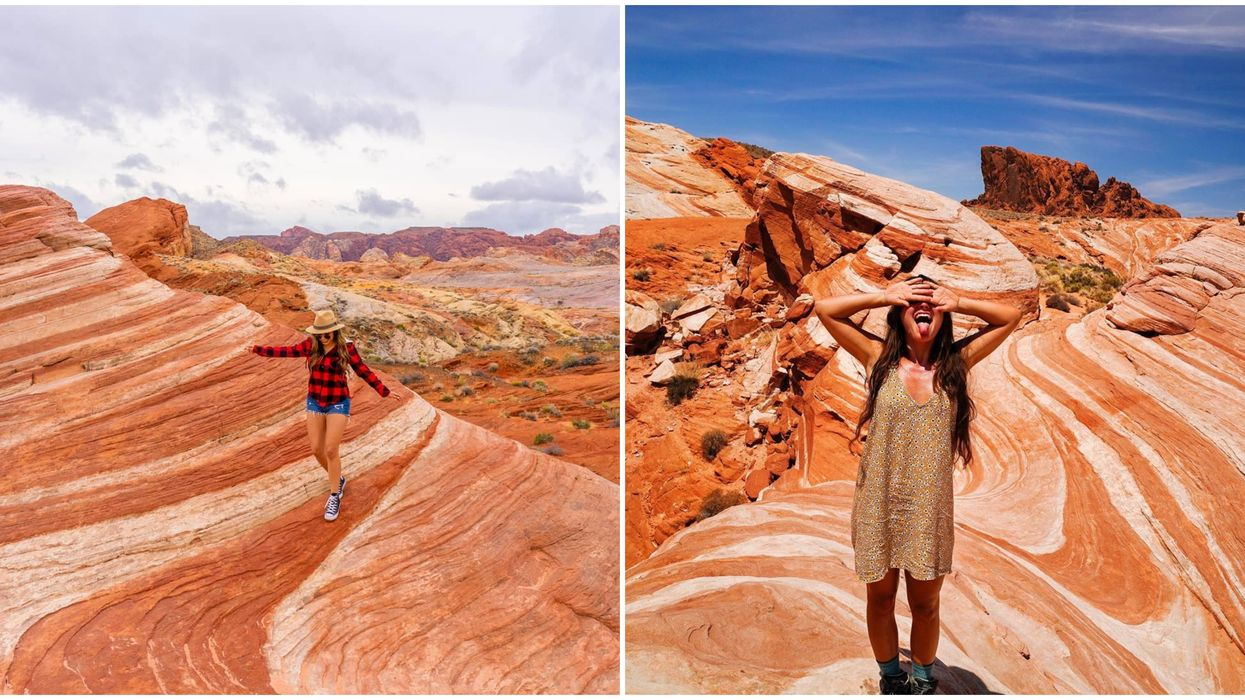 Valley of Fire State Park In Nevada Is Filled With Pumpkin Colored Hills