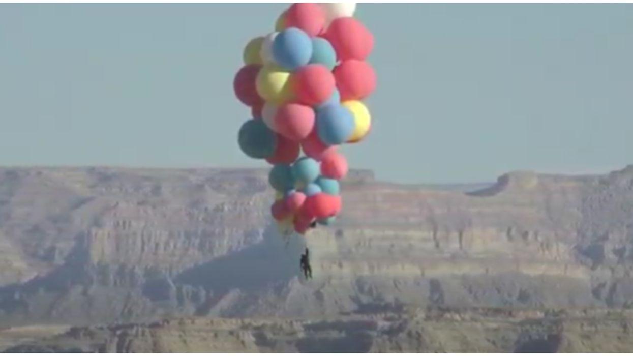 David Blaine Just Recreated The Balloon Scene From 'Up' In Arizona & It Was Wild (VIDEO)