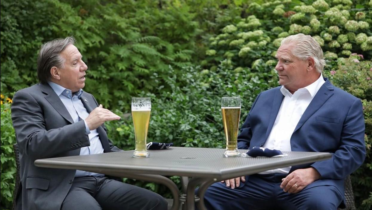 François Legault a eu une « double date » avec le premier ministre de l'Ontario Doug Ford