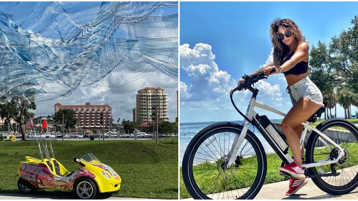 Things To Do In St Pete Include Electric Bike And Car Rentals To Explore the City