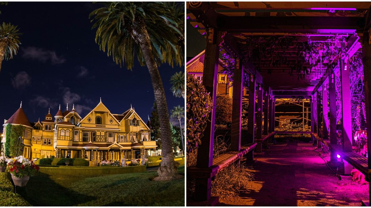 Winchester Mystery House In California Has Haunted Night Tours In The Garden