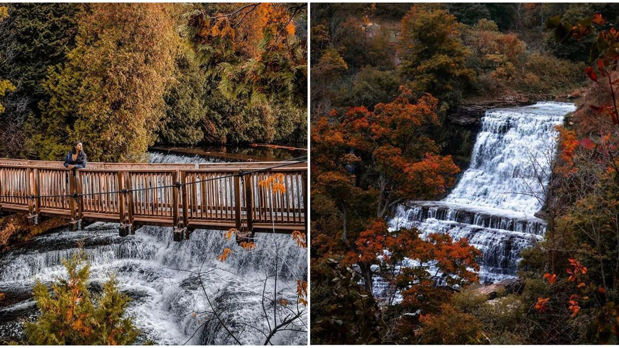 Ontario Autumn Waterfalls Surrounded By Colourful Trees That You Need To See This Fall