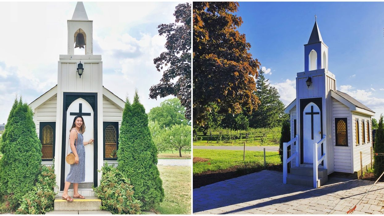 You Can Road Trip To The World's Smallest Chapel In Ontario This Fall