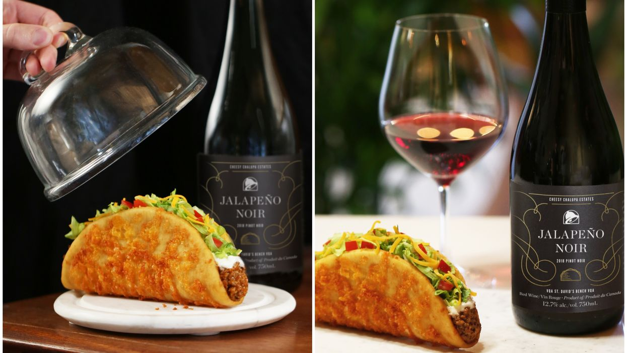 You Can Order Wine With The Return Of Taco Bell Canada's Toasted Cheesy Chalupa For A Limited Time