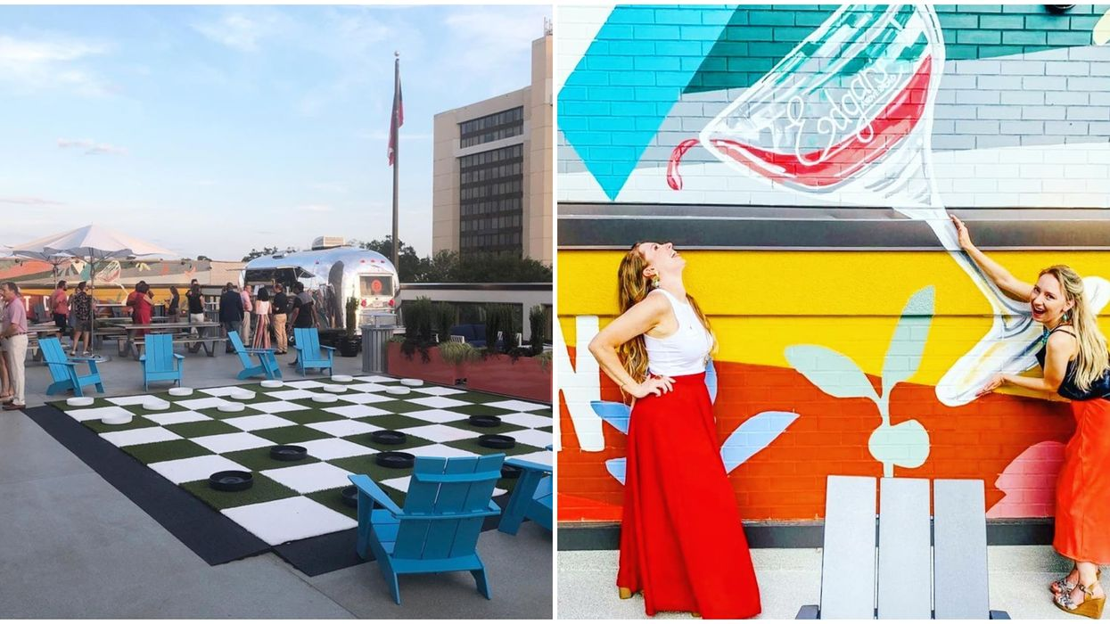 Rooftop Bar In Augusta Georgia Is A Colorful Adult Playground That Opens September 10