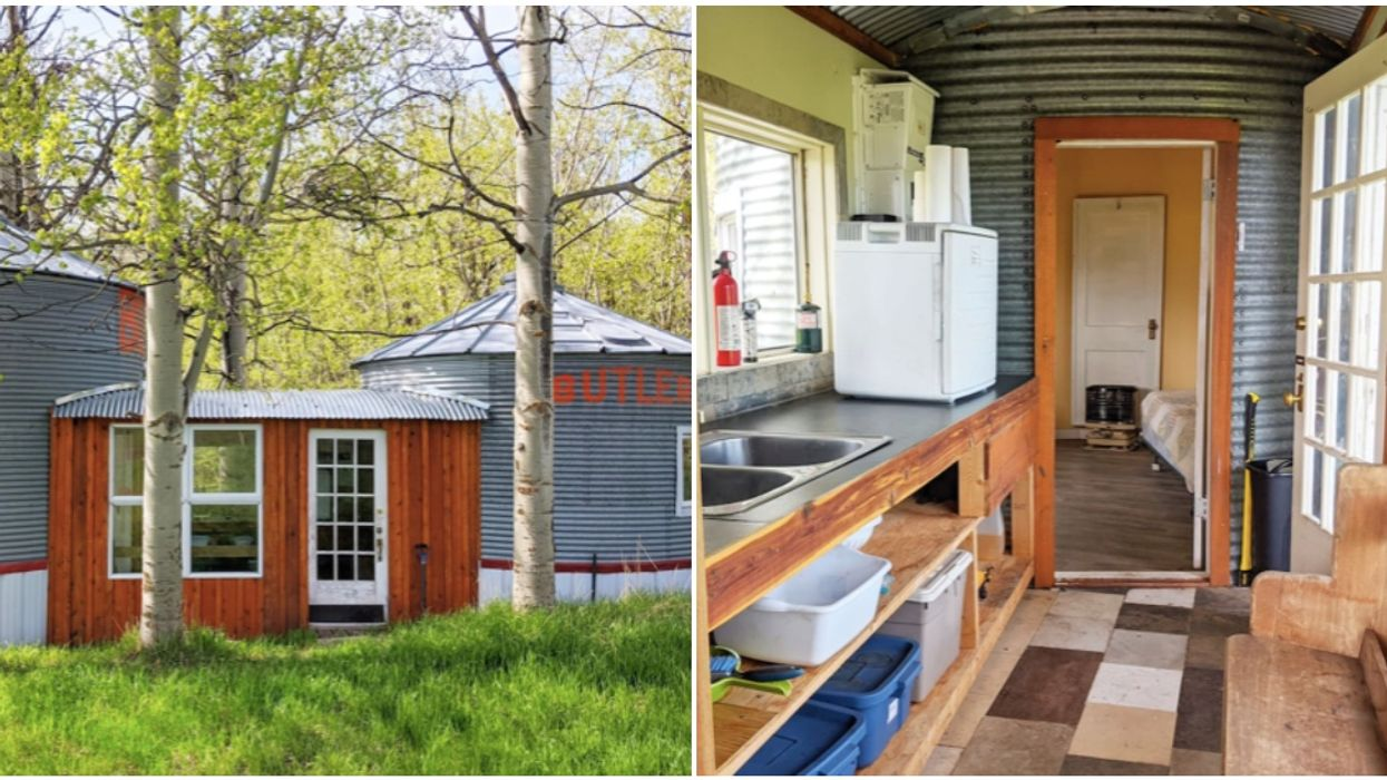 You Can Rent A Cozy Converted Grain Bin In The Stunning Alberta Countryside