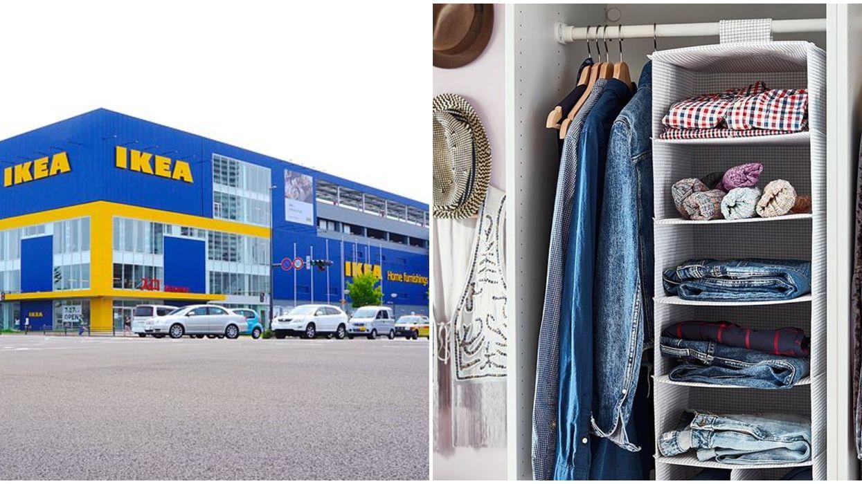 IKEA fait une vente sur les accessoires de rangements de vêtement à temps pour l'automne