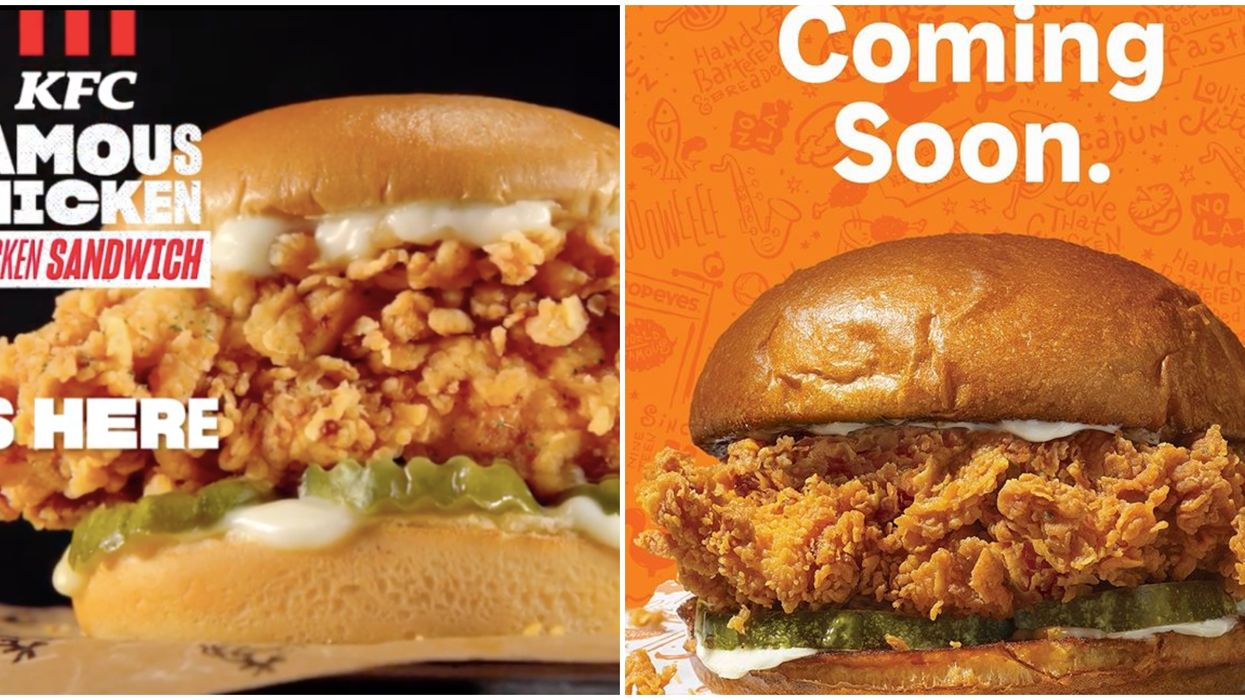 A Chicken War Is Brewing In Canada With Popeyes & KFC Launching Identical New Sandwiches