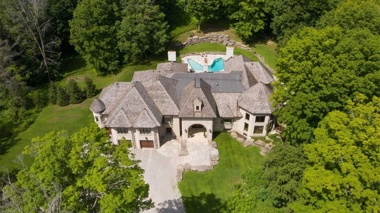 Ontario Mansion For Sale Comes With A Massive Pond In The Backyard