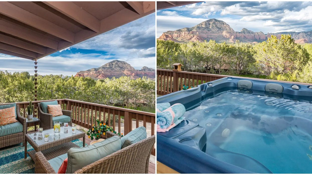 Sedona Airbnb With Hot Tub Has Red Rock Views For Days (PHOTOS)