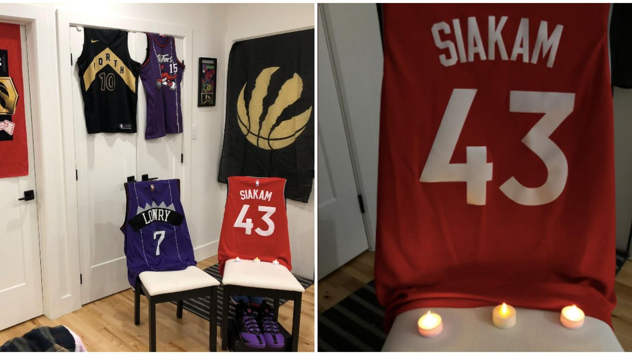 Raptors Game 7 Has People Decking Their Homes Out In Gear For Good Luck