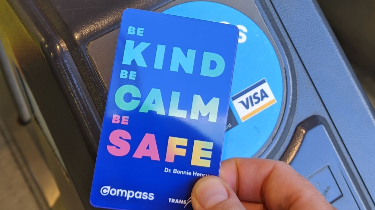 Dr. Bonnie Henry Bus Pass In Vancouver Has Her Favourite Catch Phrase On It