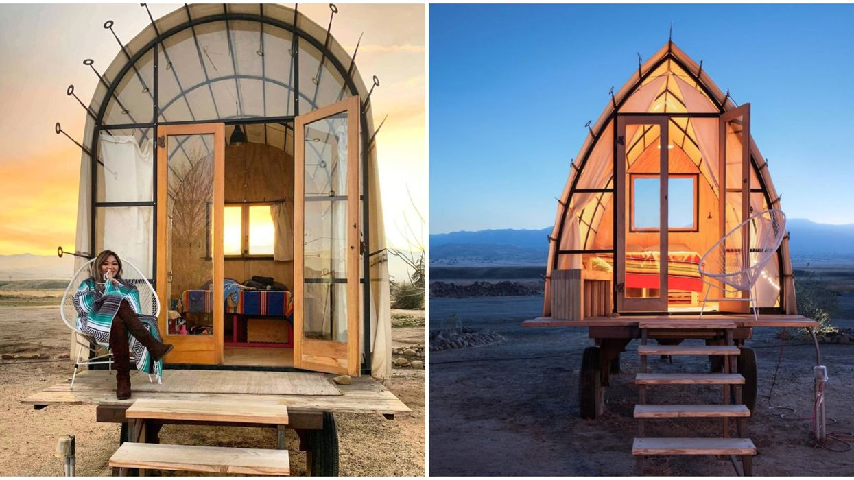 Blue Sky Center Is An Awesome Place To Glamp In The Desert