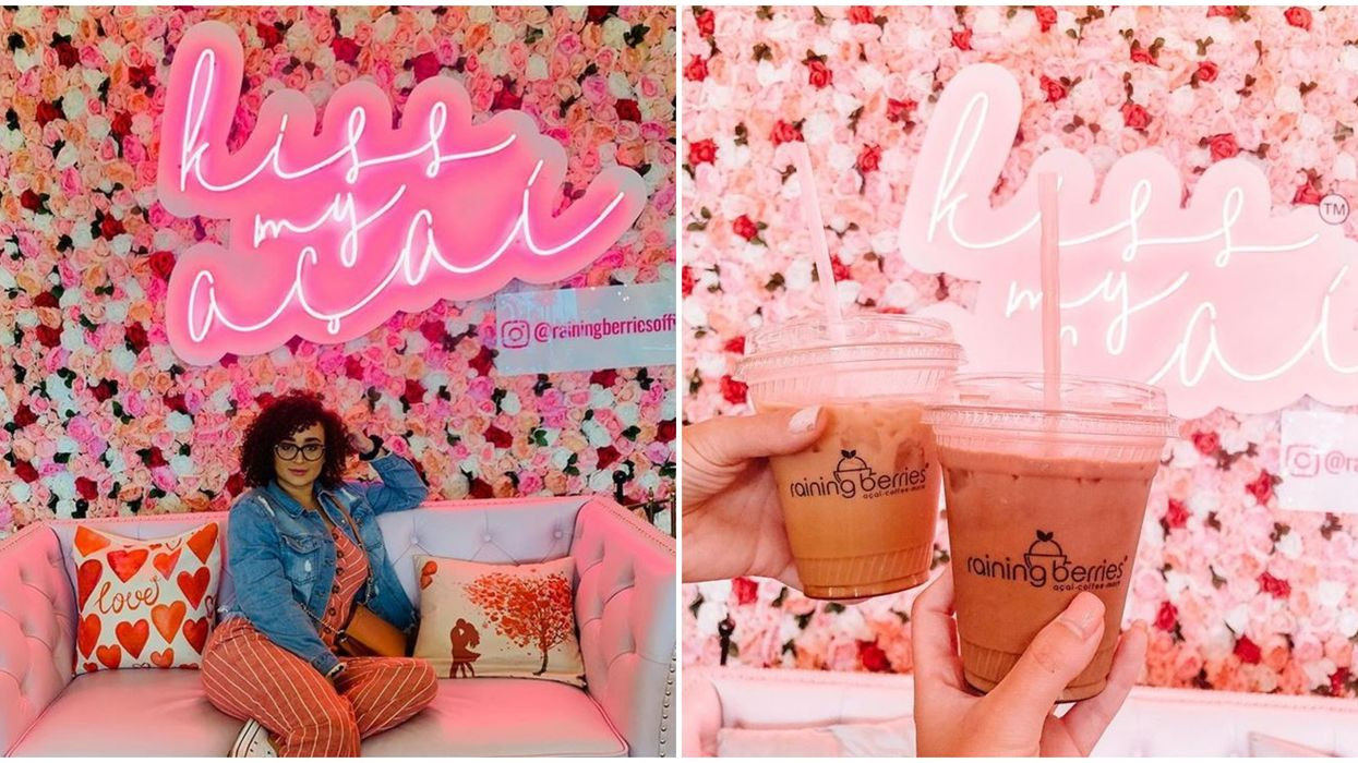 Florida Coffee Shop Raining Berries Near Tampa Is A Pink Paradise