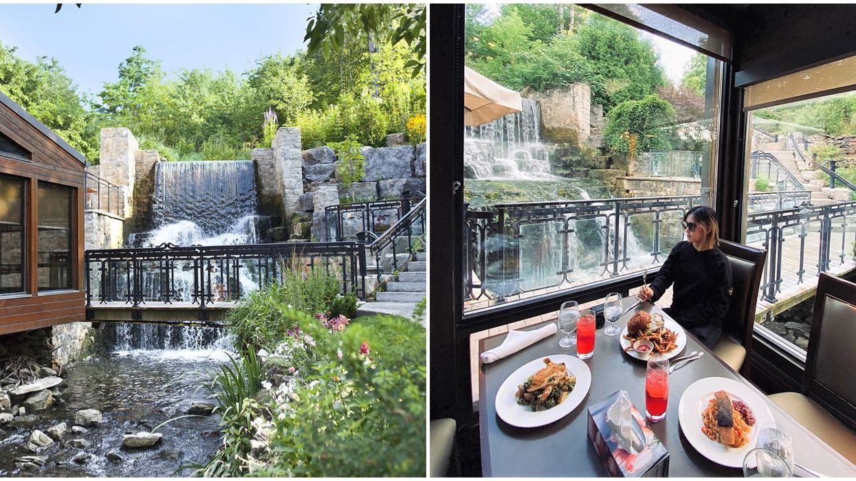 You Can Have Dinner Next To A Stunning Waterfall Near Toronto This Fall
