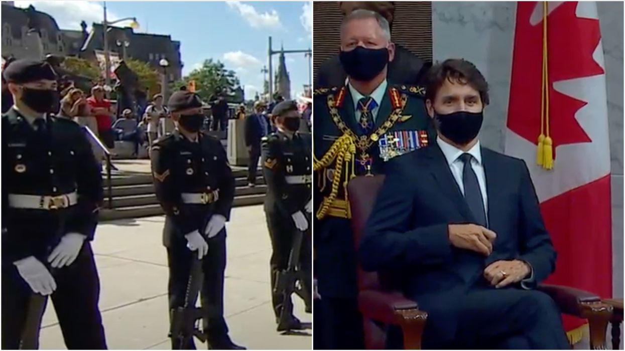 Throne Speech Protesters Showed Up & Shouted Over O Canada (VIDEO)