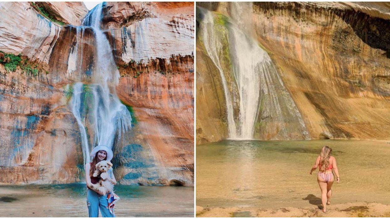 Calf Creek Falls In Utah Lets You Explore Jade Waters For Cheap
