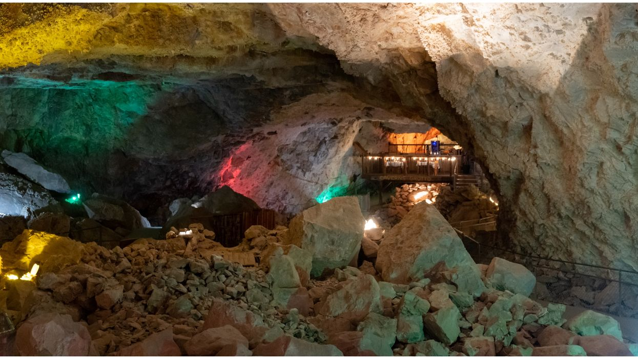 Grand Canyon Caverns In Arizona Has Ghost Walk Tours & No Flashlights Are Allowed