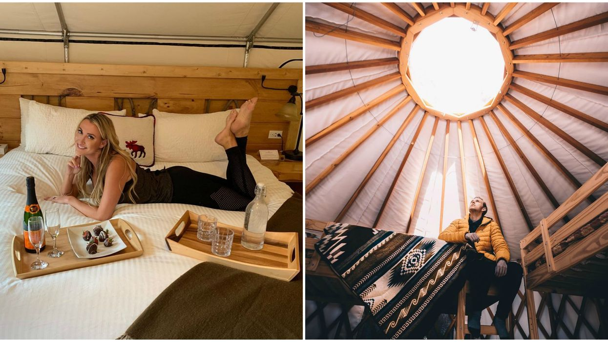 Mount Engadine Lodge Has Yurts For The Perfect Glamping Getaway