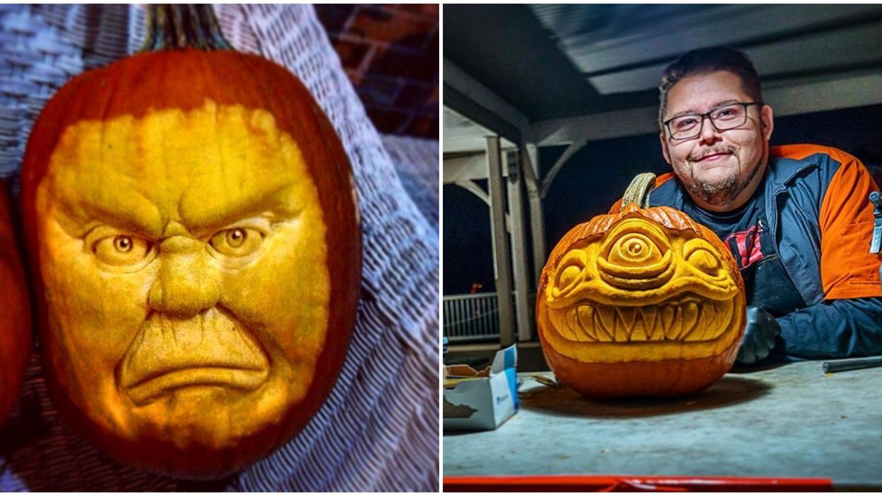 Ontario's Pumpkin Picasso Will Carve Your Selfie Into A Jack-o-Lantern
