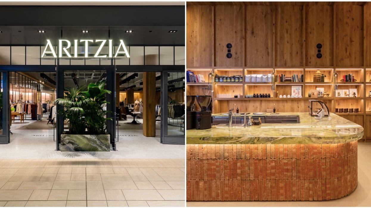 Here's A Peek Inside Calgary's Newest Aritzia That Has Its Own Super-Chic Café